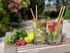 Paille réutilisable Bam Bam / Set 6 pailles bambou + 1 écouvillon - Cookut
