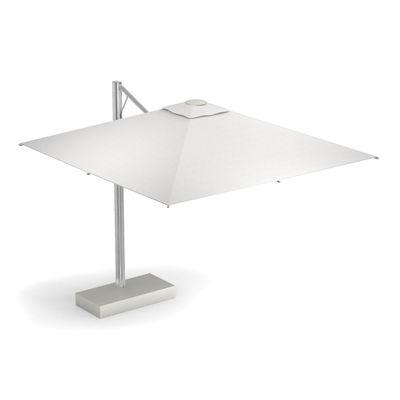 Jardin - Parasols - Parasol déporté Shade Pro / 323 x 303 cm - Emu - Toile blanche / Mât alu - Acier peint, Aluminium anodisé, Toile acrylique