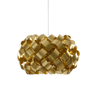 Lighting - Pendant Lighting - Ring Sphere Pendant - / Ø 50 x H 35 cm - PVC by Pallucco - Gold - PVC