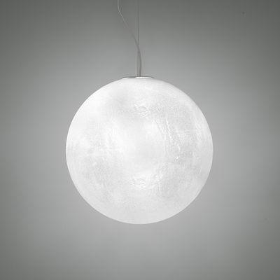 Murano Pendelleuchte / Ø 30 cm - Kunststoff in Raureif-Glasoptik - Slide - Translucide givré