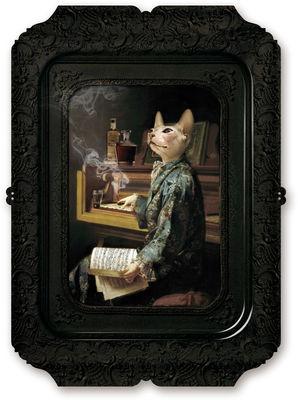 Tavola - Vassoi  - Piano/vassoio Visconti Lazy Victoire - / Quadro - H 45 cm di Ibride - Multicolore - Laminato massello