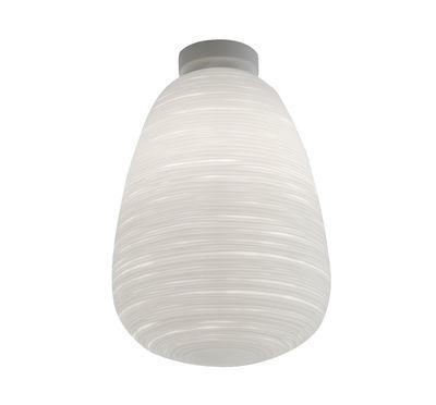 Illuminazione - Lampade da parete - Plafoniera Rituals 1 - / Ø 24 x H 37 cm di Foscarini - Bianco / Ø 24 x H 37 cm - metallo laccato, Vetro soffiato a bocca