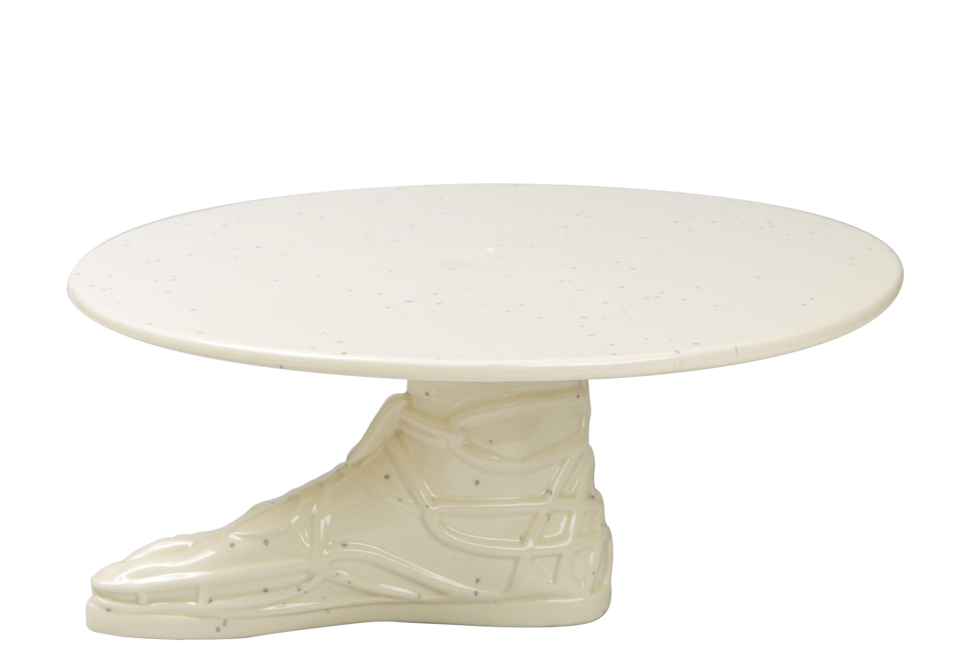 Arts de la table - Plats - Plateau à gâteau Hestia / Ø 32 cm - Doiy - Blanc - Céramique