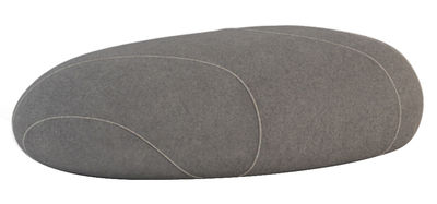 Furniture - Teen furniture - Marc Livingstones Pouf - Woollen version - Indoor use by Smarin - Anthracite with edging - Polysilicon fibres, Wool
