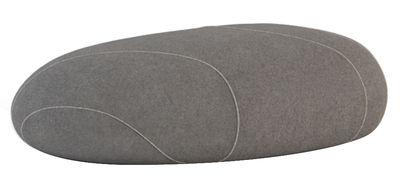 Mobilier - Mobilier Ados - Pouf Marc Livingstones / Laine - 100 x 64 cm - Smarin - Gris foncé - Fibres poly-siliconées, Laine