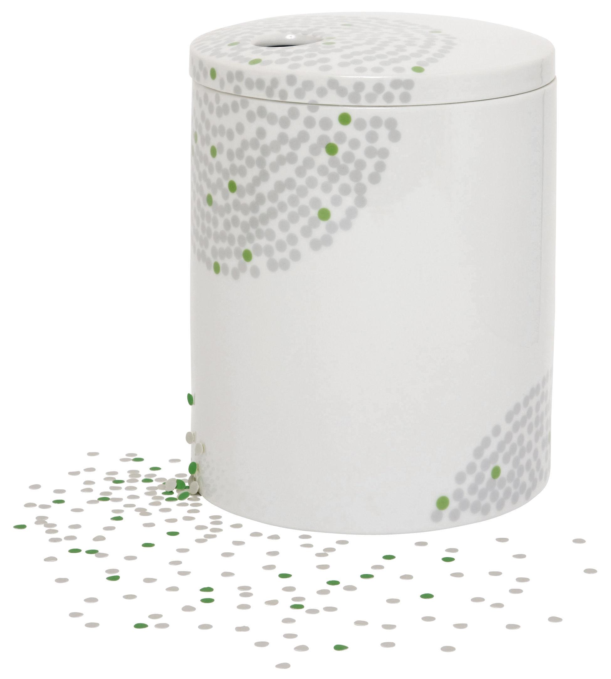 Interni - Vasi - Scatola Surface 01 - Petit pois di Domestic - porcellana+grafica - Porcellana