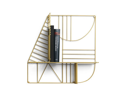Furniture - Bookcases & Bookshelves - Musa Shelf - / 60 x 60 cm by Mogg - Gold - Lacquered metal