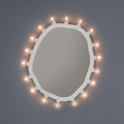Illuminazione - Lampade da parete - Specchio luminoso Luminaire Medium - / 55 x 67 cm - Lampadine incluse di Seletti - Medium / Bianco - MDF tinto, Vetro