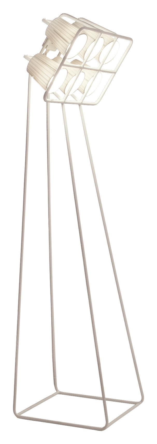 Leuchten - Stehleuchten - Multilamp Stehleuchte / H 180 cm - Seletti - Weiß - bemaltes Metall, Gewebe