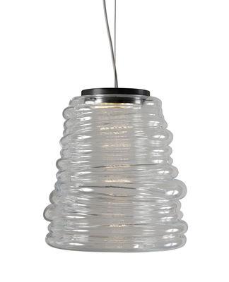 Suspension Bibendum LED / Ø 30 cm - Verre - Karman transparent en verre