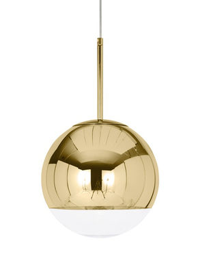 Suspension Mirror Ball / Ø 40 cm - Tom Dixon or en matière plastique