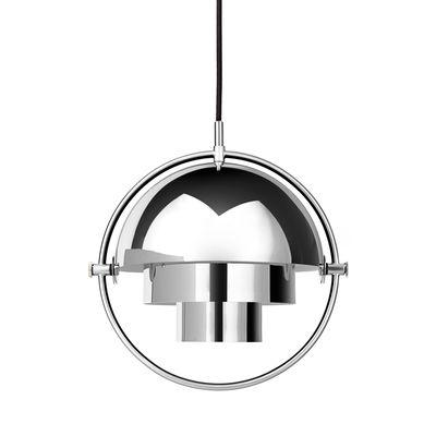 Suspension Multi-Lite Small / Ø 25 cm - Modulable & orientable / Réédition 1972 - Gubi argent/métal en métal