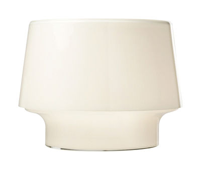 Lighting - Table Lamps - Cosy in White Table lamp - Small by Muuto - Opal white - Ø 25,4 x H 19 cm - Mouth blown glass