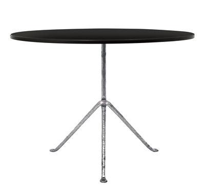 Table Officina Outdoor / Ø 100 cm - Plateau Acier - Magis noir,métal galvanisé en métal