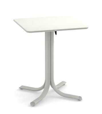 Outdoor - Tables de jardin - Table pliante System / 60 x 60 cm - Emu - Blanc - Acier peint galvanisé