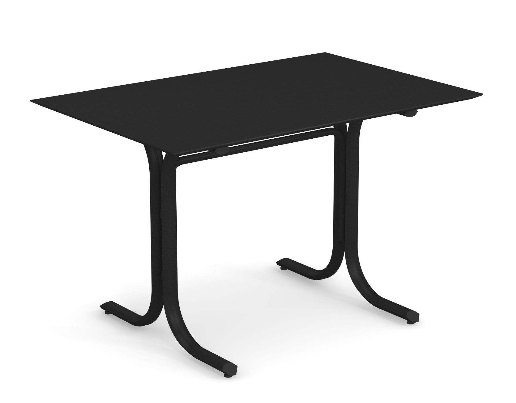 Outdoor - Tables de jardin - Table rectangulaire System / 80 x 120 cm - Emu - Noir - Acier peint galvanisé