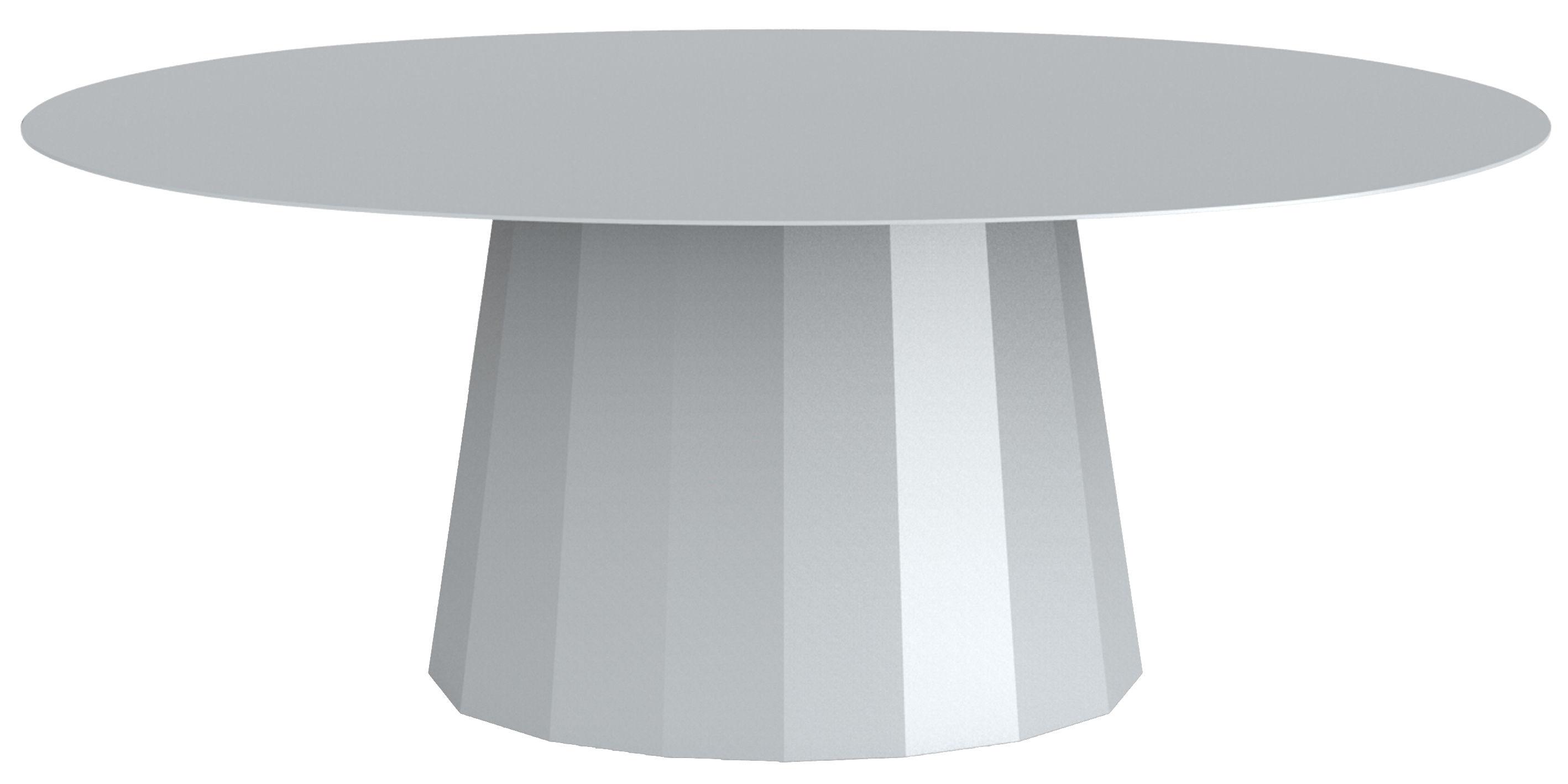 Arredamento - Tavolini  - Tavolino basso Ankara / L 109 x H 42 cm - Matière Grise - Grigio - Acciaio verniciato