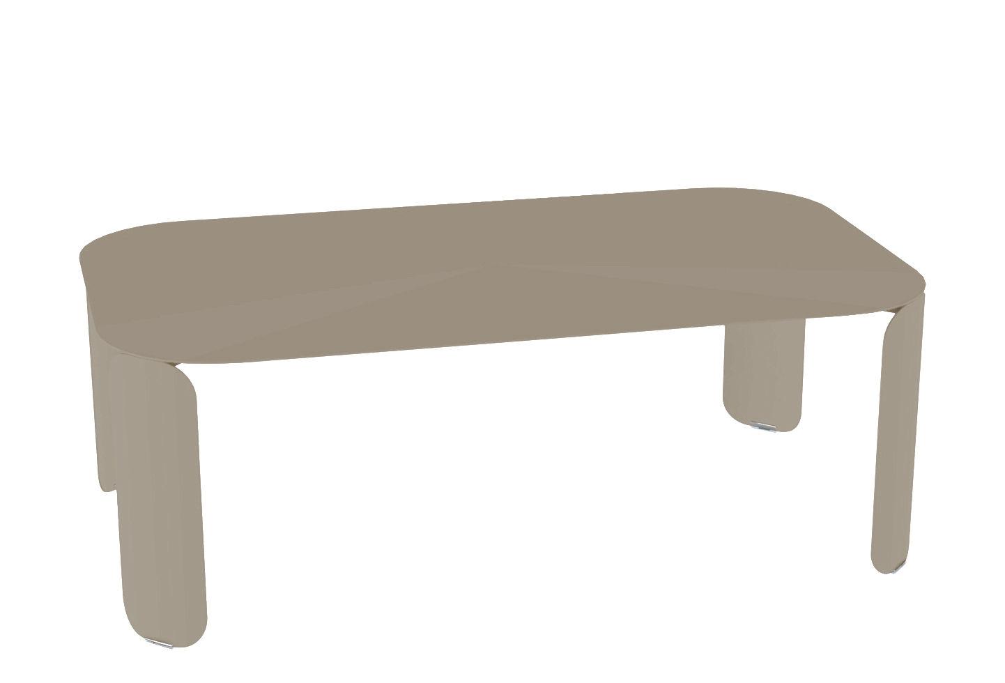 Arredamento - Tavolini  - Tavolino Bebop - / 120 x 70 x H 42 cm di Fermob - Noce moscata - Acciaio, Alluminio