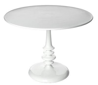Enamel Tisch / Ø 100 cm - Metall - Pols Potten - Weiß