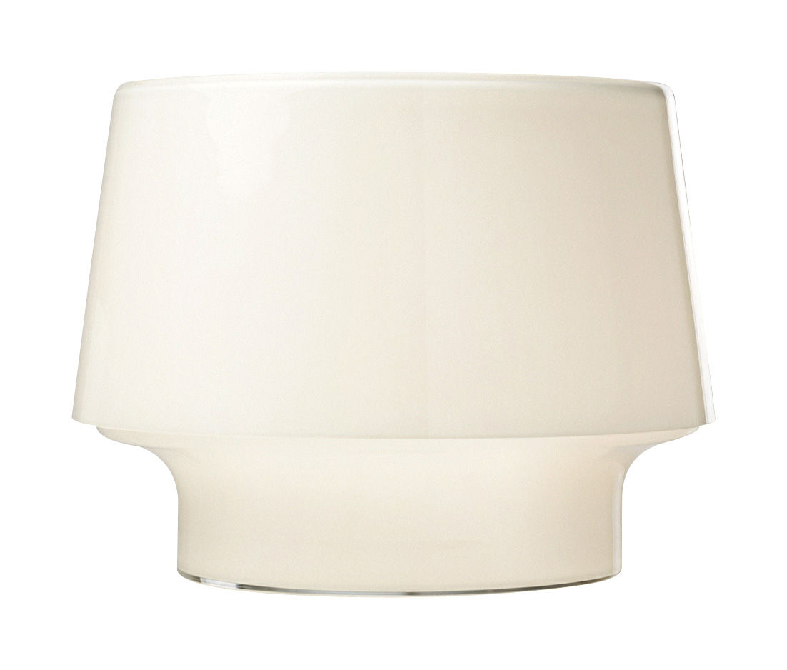 Leuchten - Tischleuchten - Cosy in White Tischleuchte klein - Muuto - Opalweiß - Ø 25,4 x H 19 cm - mundgeblasenes Glas