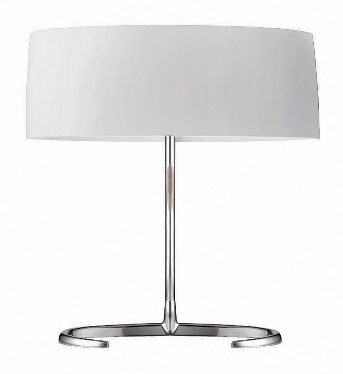 Leuchten - Tischleuchten - Esa Piccola Tischleuchte - Foscarini - Weiß - Piccola (H 30 cm) - geblasenes Glas, poliertes Aluminium