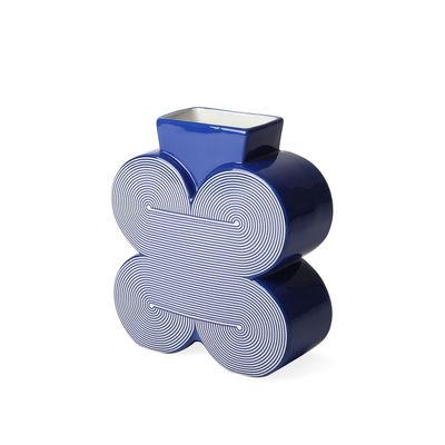 Interni - Vasi - Vaso Pompidou Small - / porcellana - H 17 cm di Jonathan Adler - Small / Blu - Porcellana