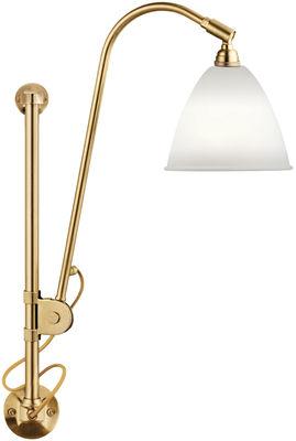 Lighting - Wall Lights - Bestlite BL5 Wall light with plug - 1930 by Gubi - Brass structure / Bone china diffuser - Brass, China