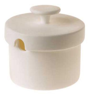 Küche - Zuckerdosen und Milchkännchen - Sucrier Zuckerdose Polka - ENOstudio - Weiß - chinesisches Weich-Porzellan
