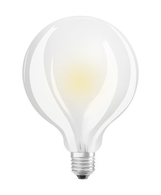 Ampoule LED E27 / Globe dépoli 9,5cm - 7W=60W (2700K, blanc chaud) - Osram blanc en verre