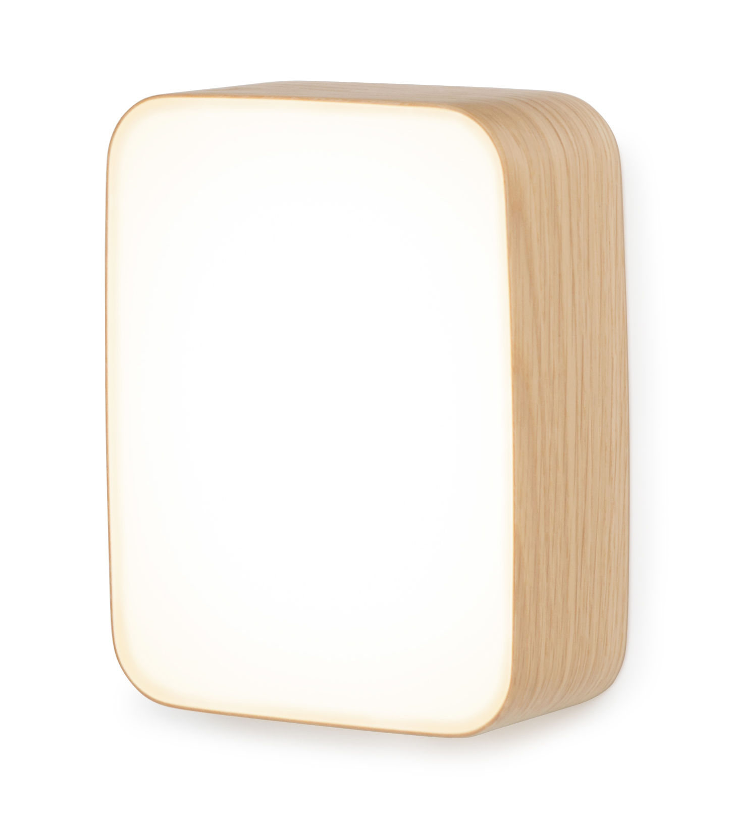 Luminaire - Appliques - Applique Cube Small / Plafonnier LED - 22 x 16 cm - Tunto - Small / Chêne - Polypropylène