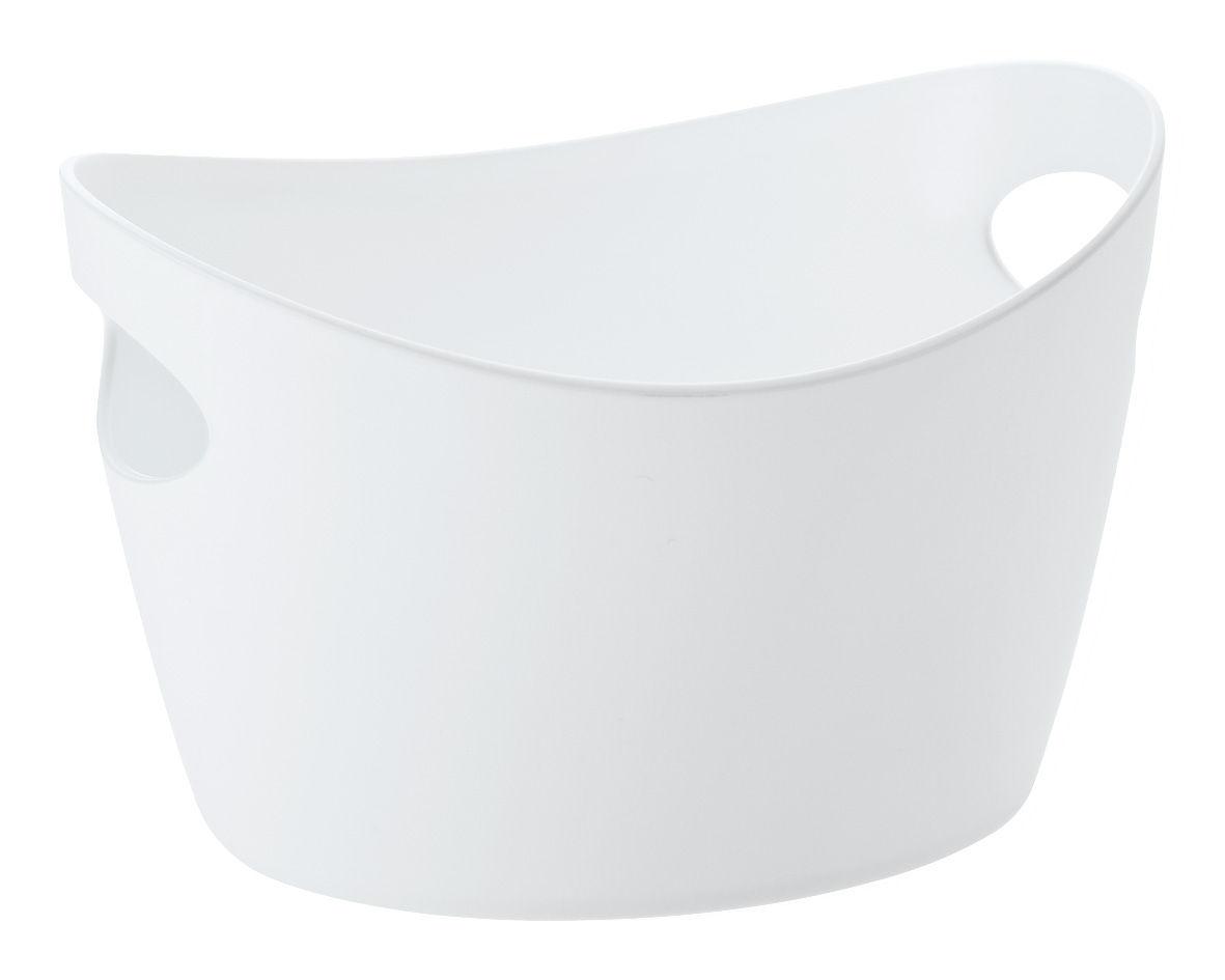 Decoration - For bathroom - Bottichelli XXS Basket - L 12 x H 7 cm by Koziol - White - Polypropylene