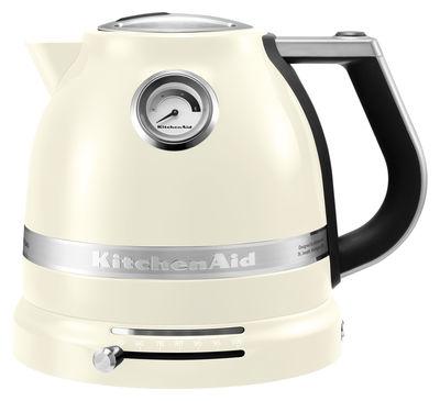 Cuisine - Electroménager - Bouilloire électrique Artisan 1,5 L / Température réglable - KitchenAid - Crème - Acier, Aluminium, Plastique