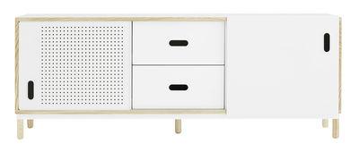 Buffet Kabino / Meuble TV - L 162 cm - Tiroirs - Normann Copenhagen blanc/bois naturel en métal/bois