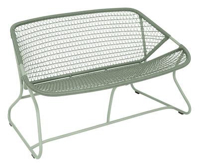 Arredamento - Panchine - Divano 2 posti Sixties - / L 118 cm - Plastica intrecciata di Fermob - Cactus - Alluminio, Resina polimerica