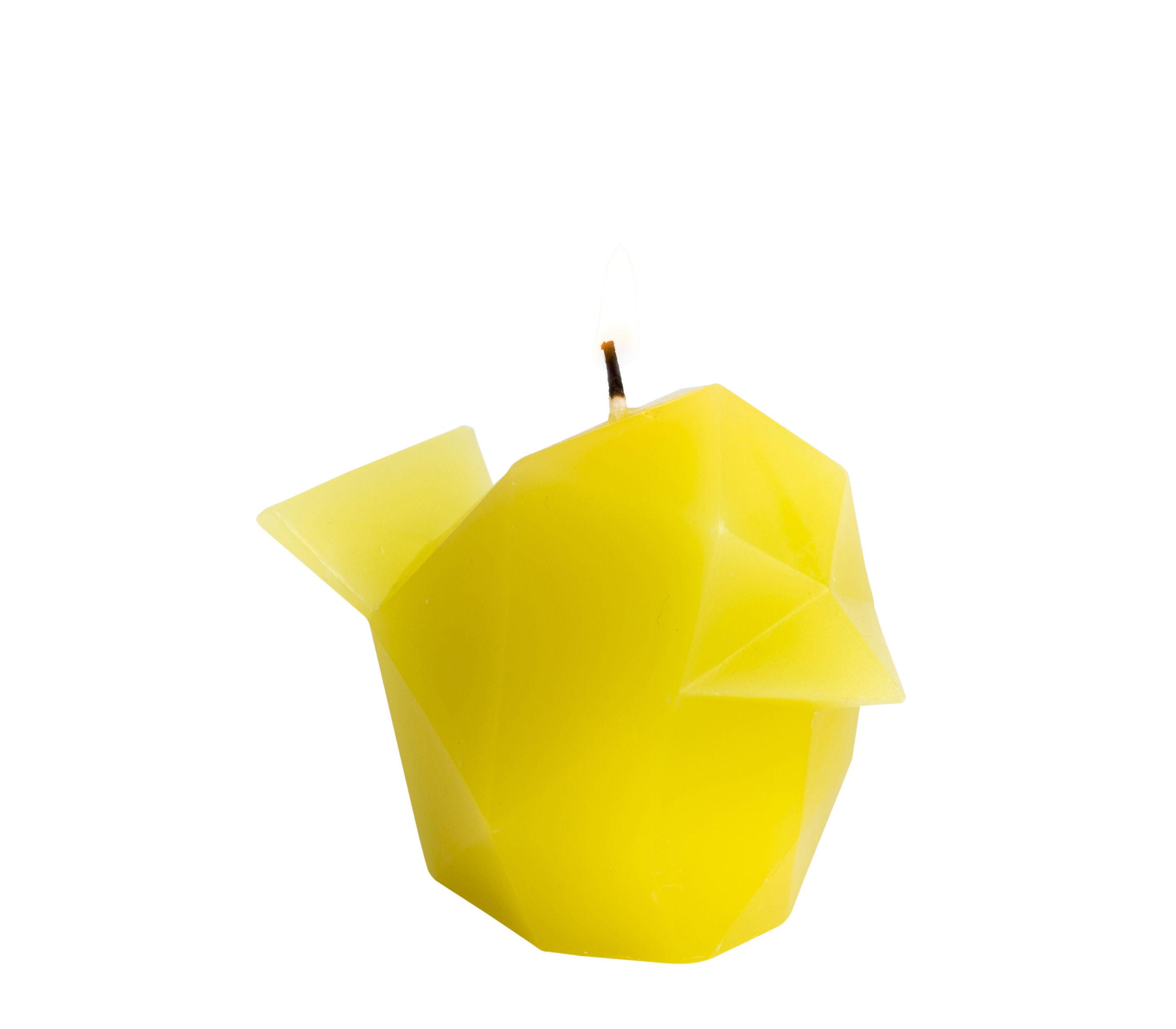 Interni - Candele, Portacandele, Lampade - Candela Pyro Pet Bibi - / Canarino - Struttura in metallo di Pa Design - Canarino / giallo - Alluminio, Cera