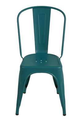 Chaise empilable A / Acier - Couleur mate texturée - Tolix vert canard mat grainé en métal