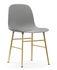 Chaise Form / Pied laiton - Normann Copenhagen