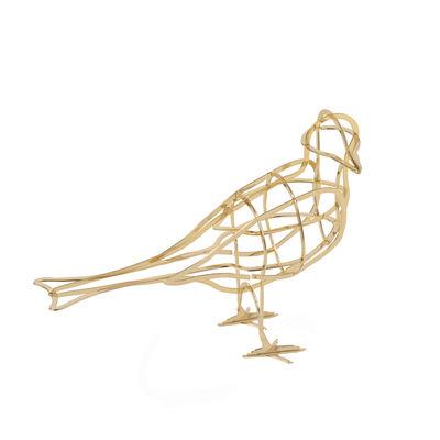 Déco - Objets déco et cadres-photos - Décoration À l'Aube / Oiseau en métal - Ibride - À l'Aube / Or - Métal galvanisé or