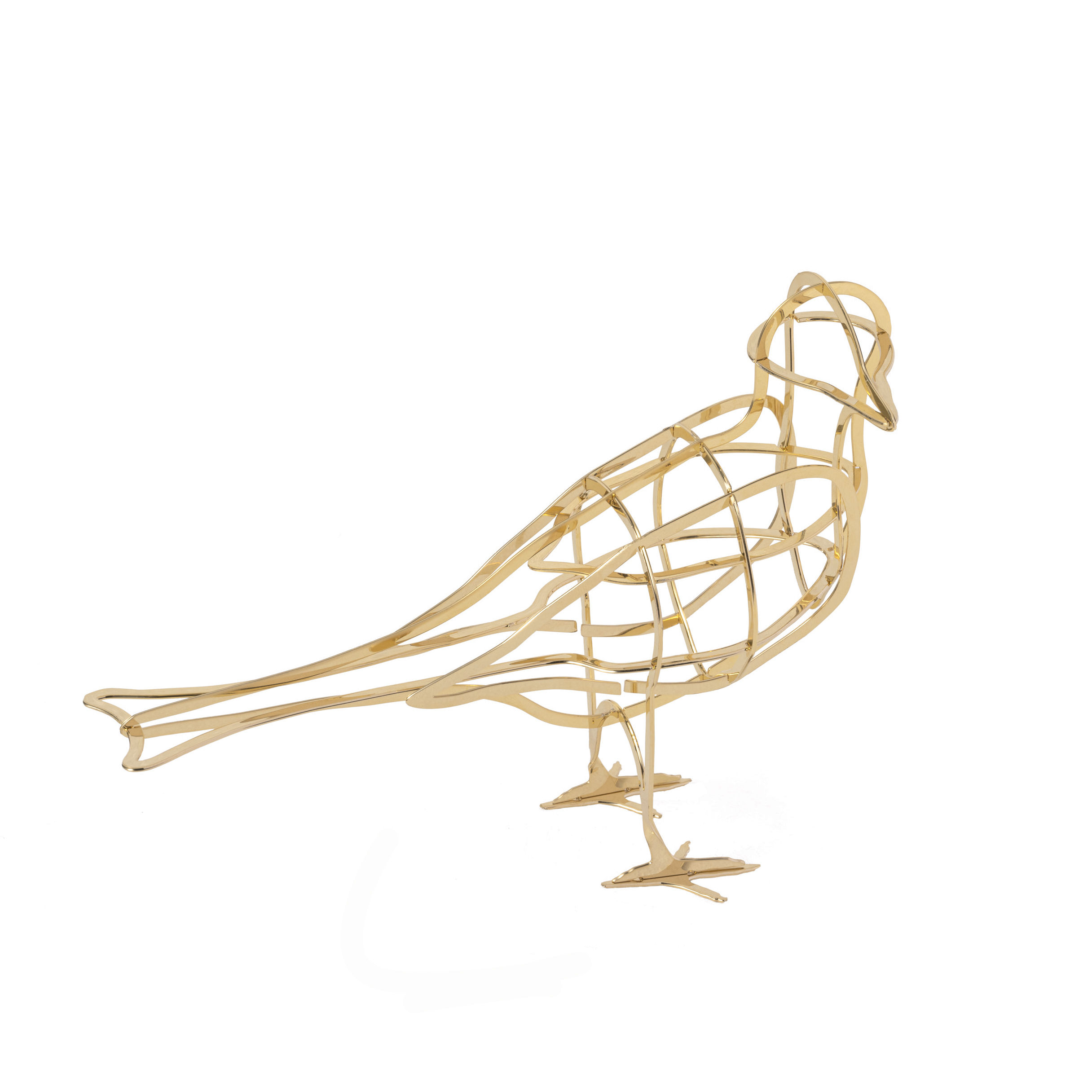 Decoration - Home Accessories - À l'Aube Decoration - / Metal bird by Ibride - To Dawn / Gold - Gold galvanised metal