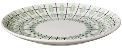 Tableware - Plates - Olivia Dessert plate - Ø 20 cm by Super Living - White / Mint - Enamelled china