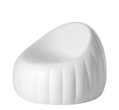 Fauteuil bas Pouf Gelée Lounge Mousse polyuréthane Slide blanc en matière plastique