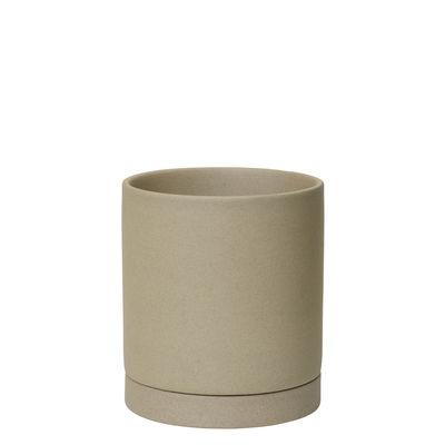 Outdoor - Pots & Plants - Sekki Medium Flowerpot - / Ø 13.5 x H 15.7 cm - Sandstone by Ferm Living - Sand - Sandstone