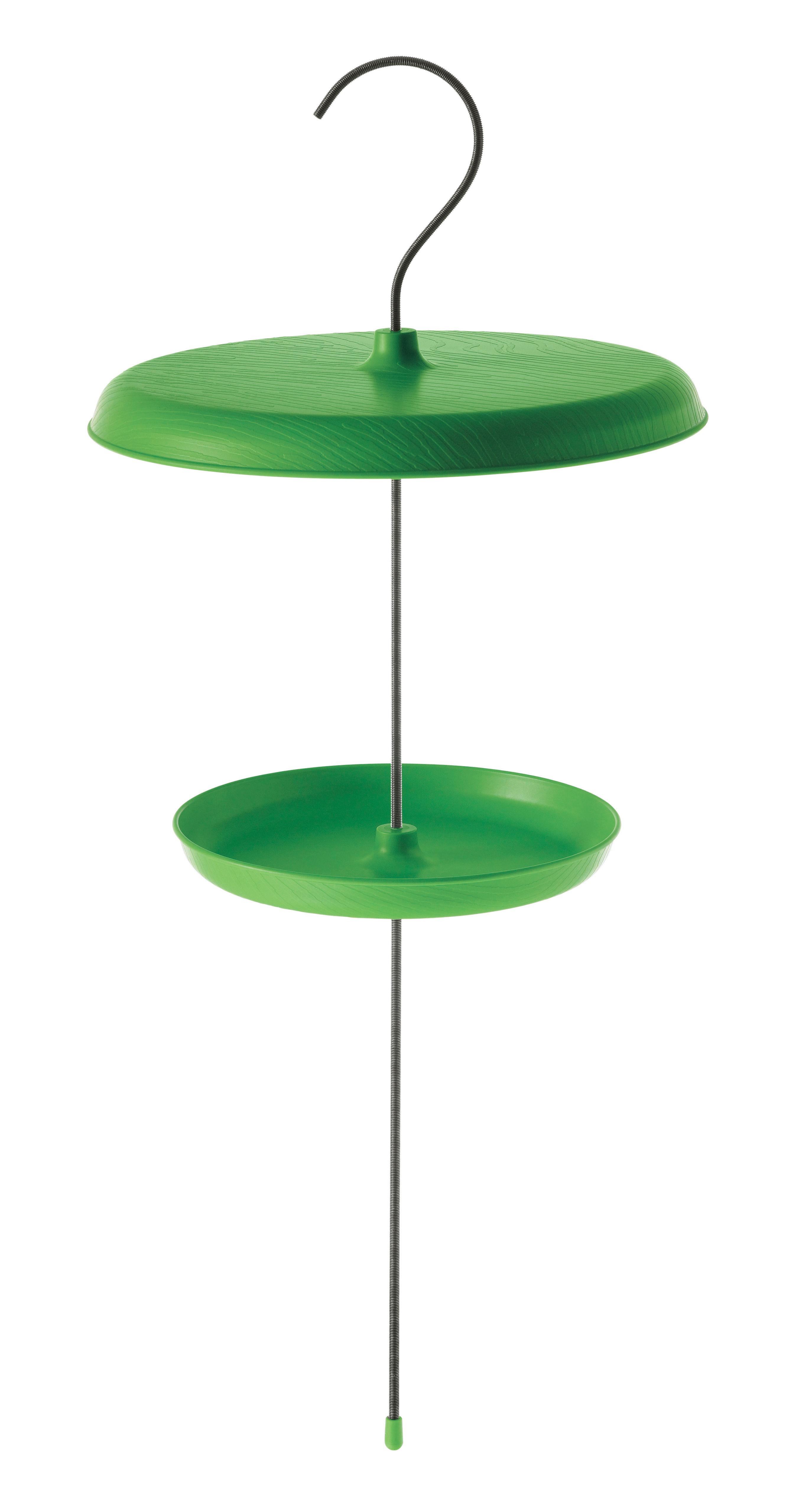 Outdoor - Deko-Accessoires für den Garten - Bird Table Futterstelle für Vögel - Magis - Grün - Polypropylen, rostfreier Stahl