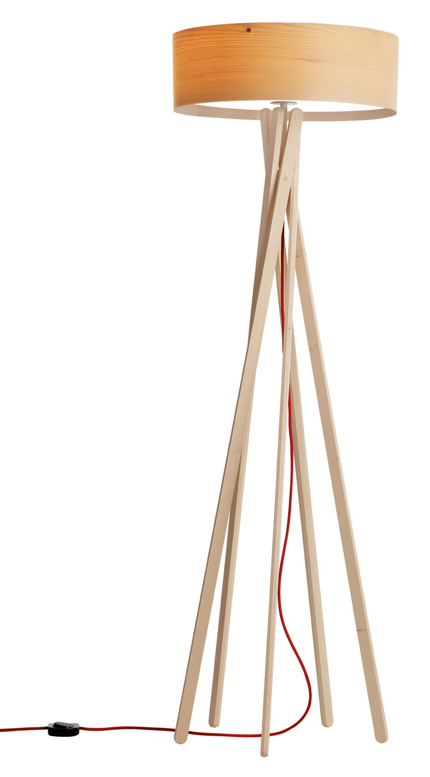 Luminaire - Lampadaires - Lampadaire Arba interrupteur - Belux - Bois - Avec interrupteur - Erable huilé
