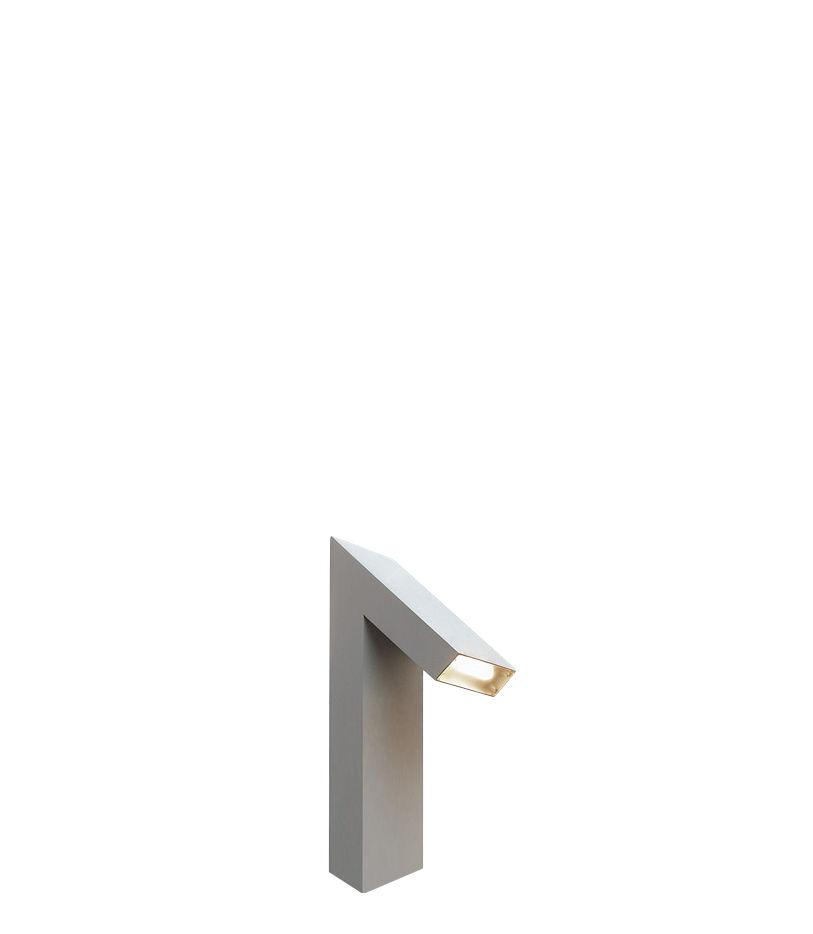 Luminaire - Luminaires d'extérieur - Lampe de sol Chilone LED / H 45 cm - Pour l'extérieur - Artemide - Aluminium - Aluminium verni