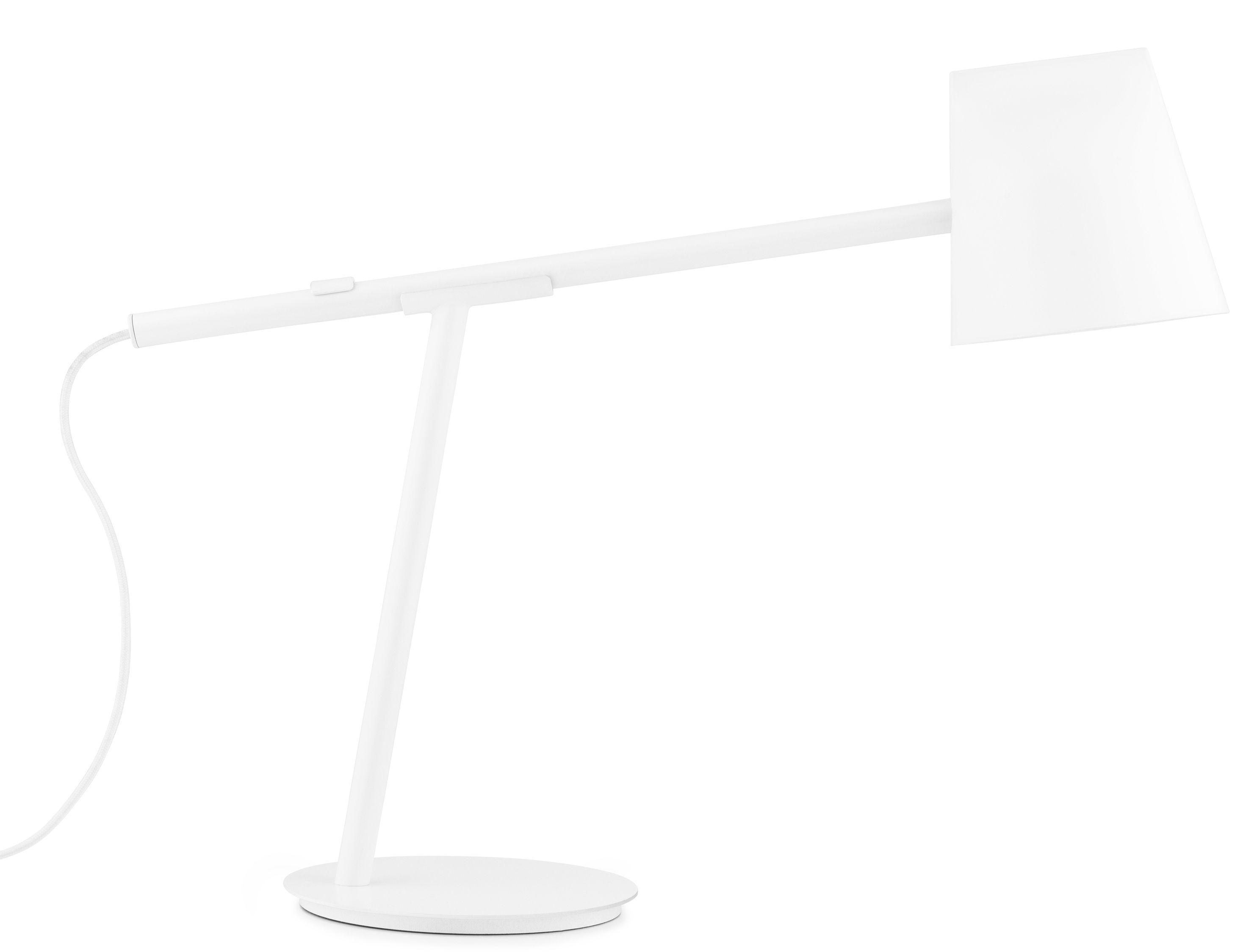 Luminaire - Lampes de table - Lampe de table Momento LED / Orientable - H 44 cm - Normann Copenhagen - Blanc - Métal laqué, Plastique