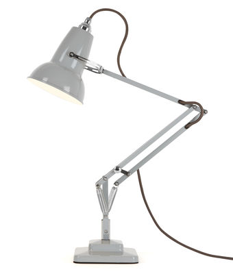 Lampe de table Original 1227 Mini / 2 bras articulés - H max 50 cm - Anglepoise gris colombe en métal