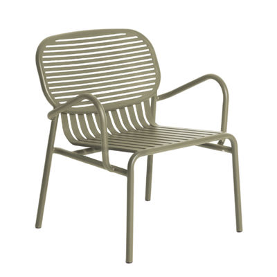 Furniture - Armchairs - Week-End Low armchair - / Stackable - Aluminium by Petite Friture - Jade green - Powder coated epoxy aluminium