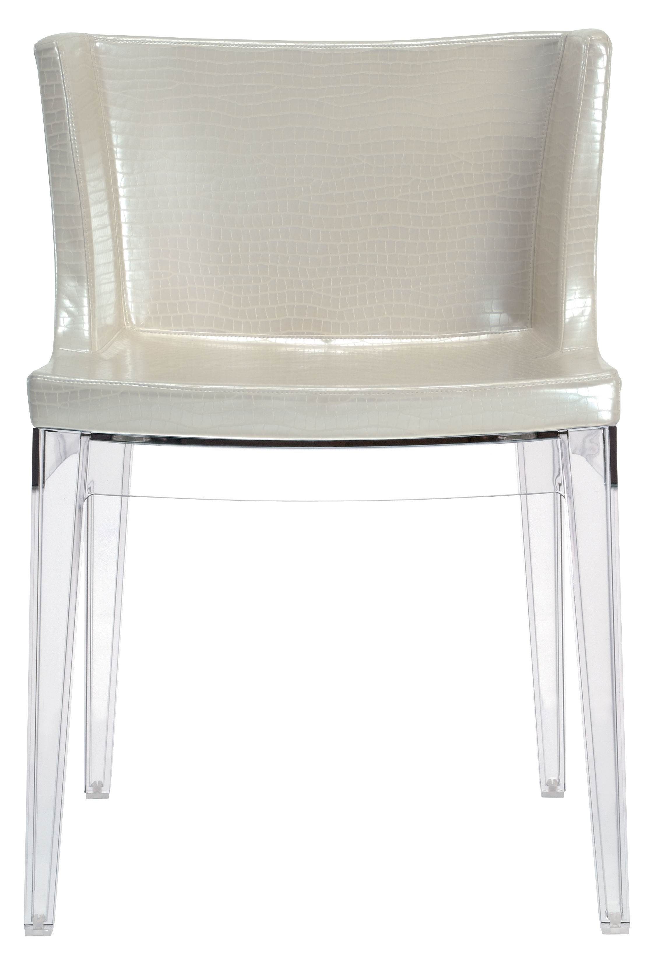 padded armchair mademoiselle cocco by kartell ivory transparent