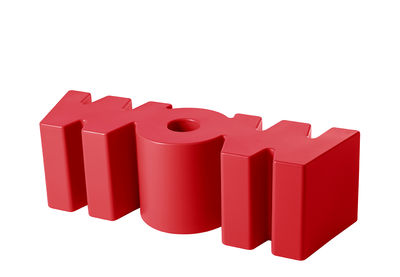 Arredamento - Mobili per bambini - Panchina Wow - / L 147 cm di Slide - Rosso - polietilene riciclabile